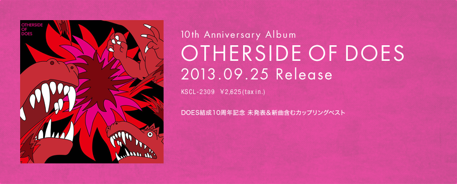 10th Anniversary Album 「OTHERSIDE OF DOES」2013.09.25 Release